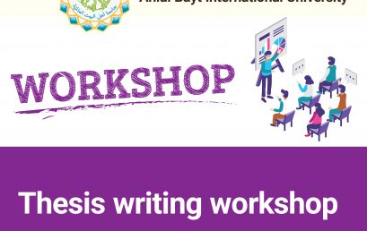Thesis writing workshop focusing on:  The subject matter, problematics, paragraph writing, letter writing